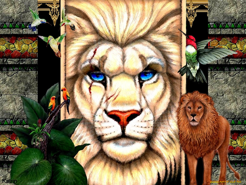 Талисман лев картинки этих